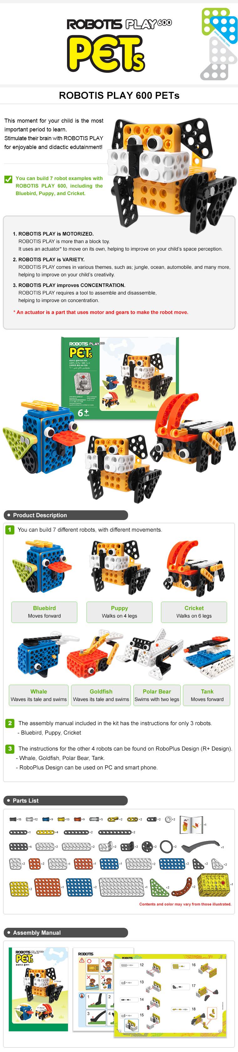 ROBOTIS PLAY600 PETs